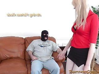 Femdom-goddess alexis tall golden-haired female-dominator punishes