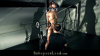 Youthful alexis restrained in slavery devices and vibed hard